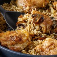 One Pot Mushroom Chicken and Rice