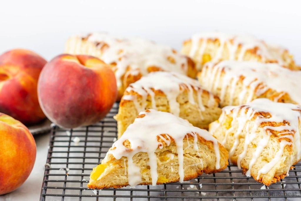 Fresh peach scones