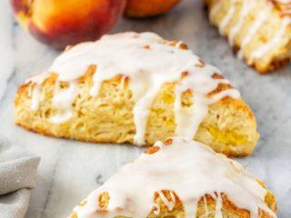 Fresh summer peach scones