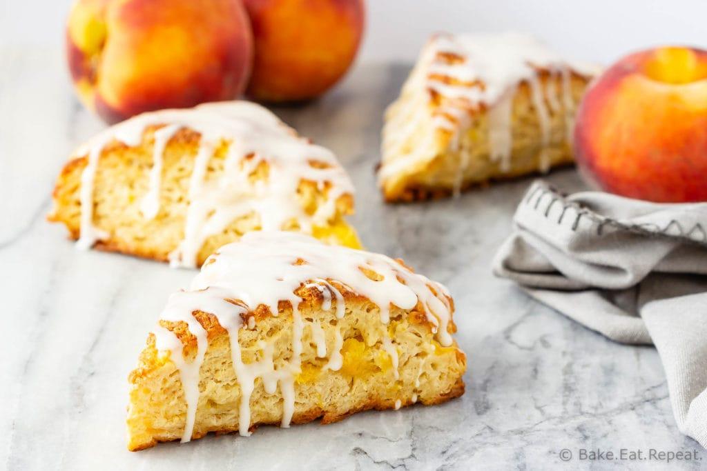 Flaky peach scones