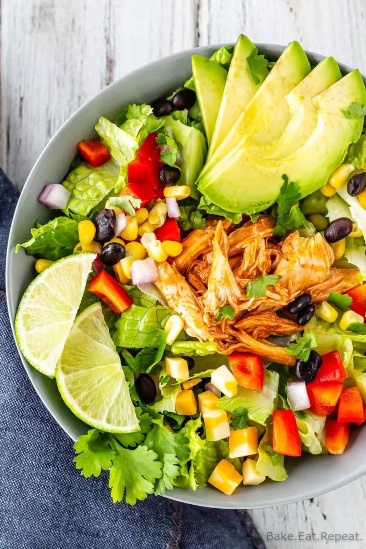 We have been enjoying this BBQ chicken chopped salad for years! A tasty, quick and easy to make, main course salad for those hot summer evenings!