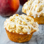 Peach Muffins with Crumb Topping