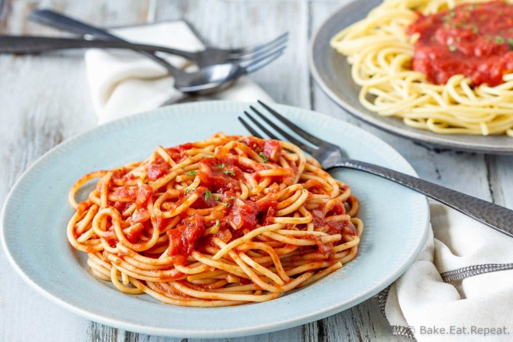 Easy to make homemade pasta sauce