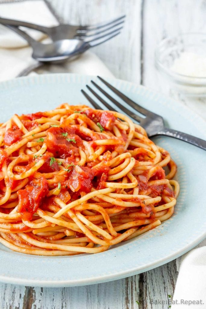 Easy to make, homemade pasta sauce