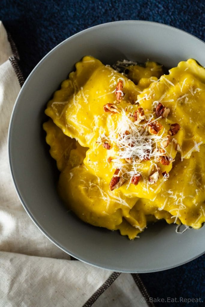 30 minute, creamy, thick, butternut squash sauce, perfect with pasta!