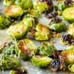 Garlic Parmesan Roasted Brussel Sprouts