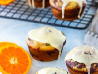 Easy Glazed Chocolate Orange Muffins