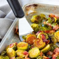 Maple Bacon Roasted Brussel Sprouts