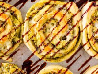 Pesto Chicken Pizza Rolls