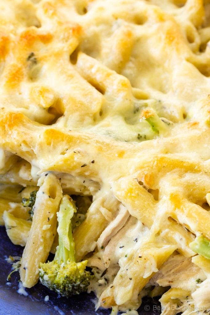 Easy chicken broccoli Alfredo penne