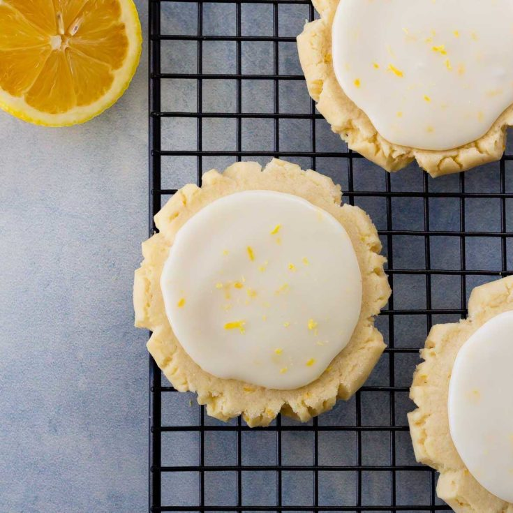 Soft lemon sugar cookies