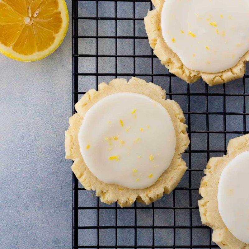 Soft lemon sugar cookies