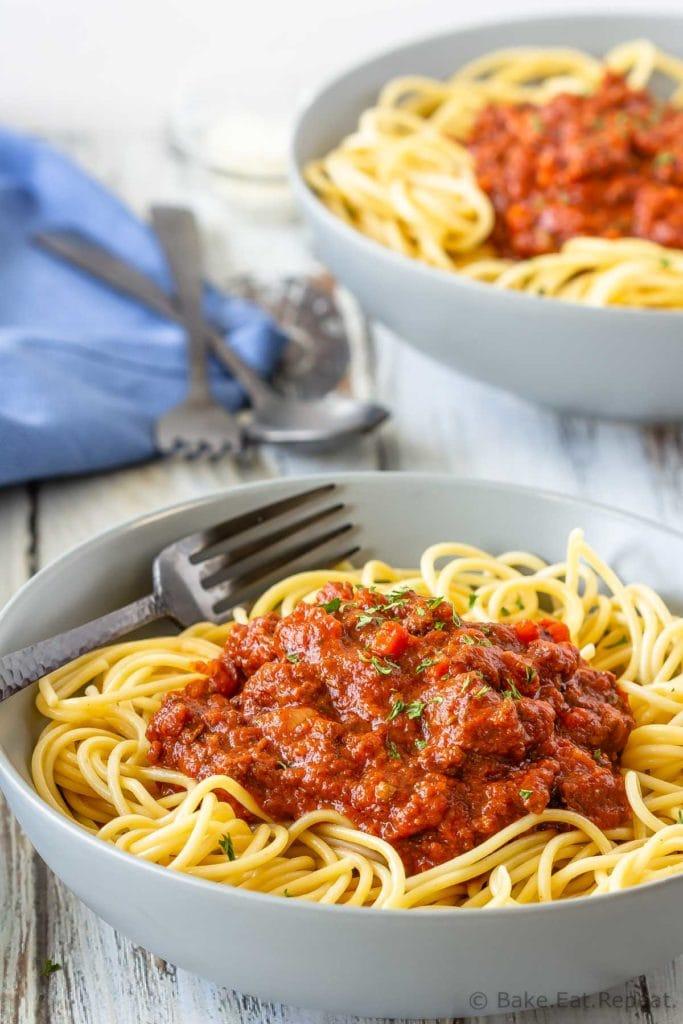 Crockpot Bolognese Sauce