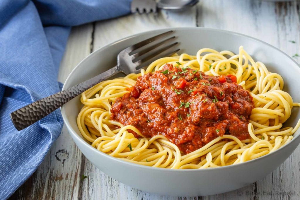 Slow cooker, freezer friendly, Bolognese sauce