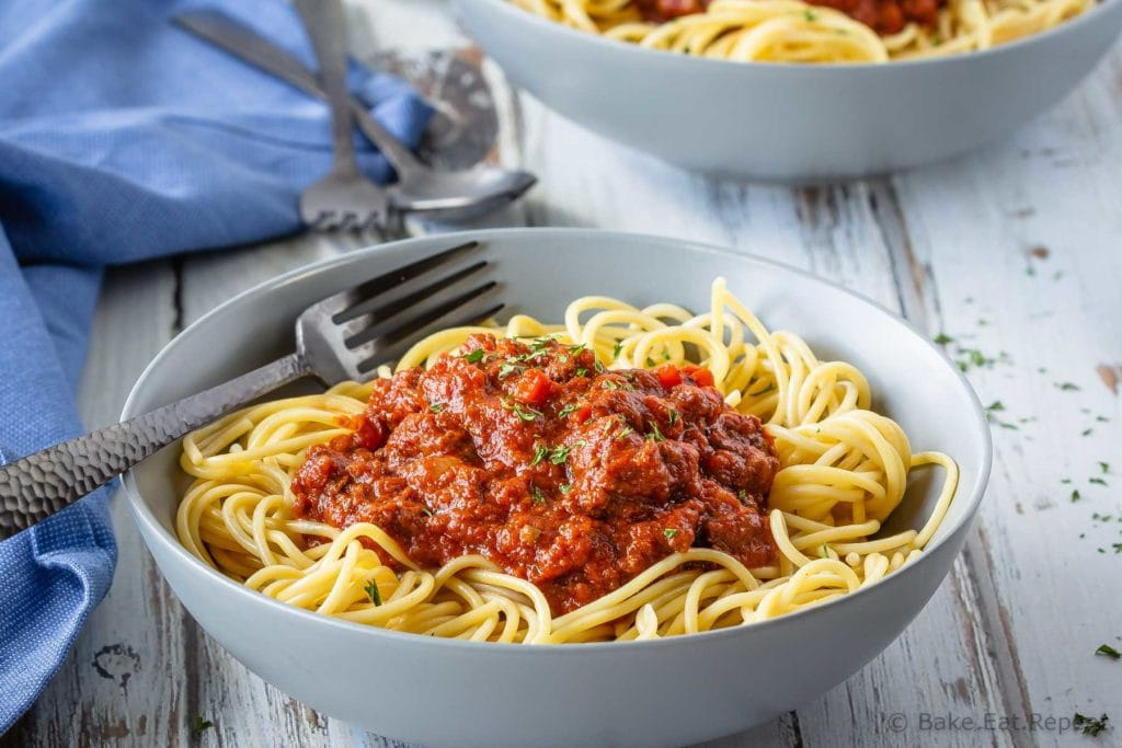 Easy to make Bolognese pasta sauce