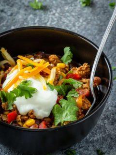 Instant Pot turkey chili