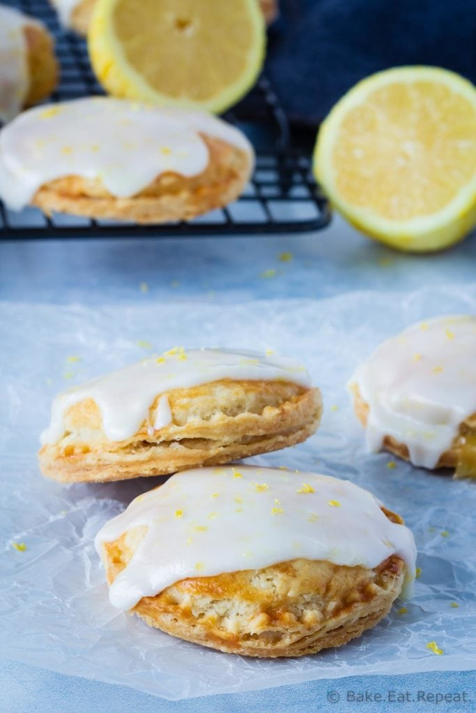 Homemade lemon hand pies