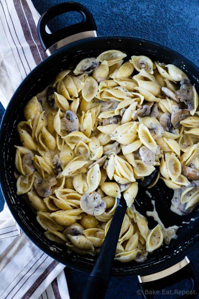 Mushroom pasta sauce