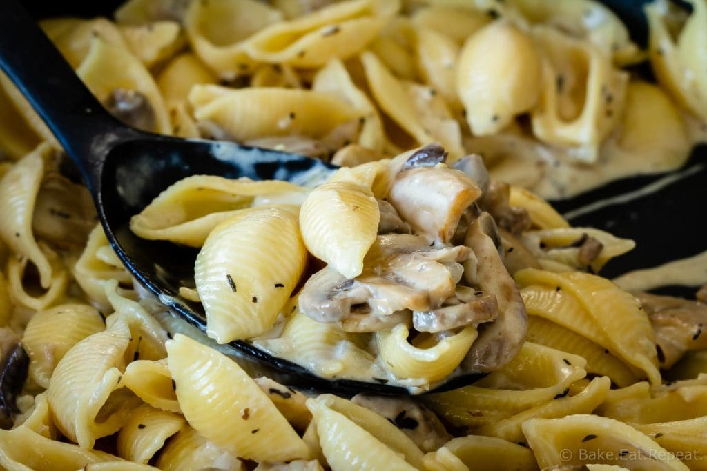 Homemade mushroom sauce for pasta