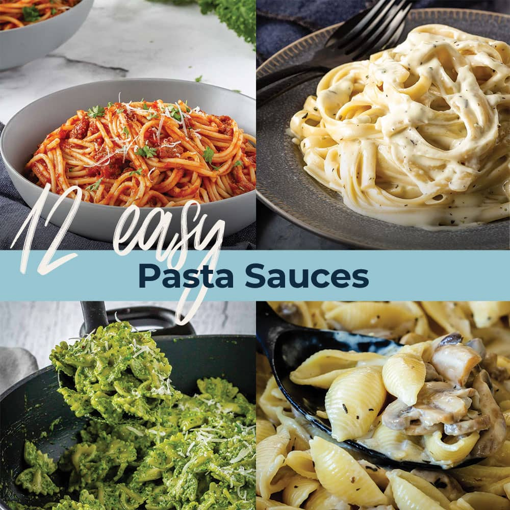 If you're looking for an easy pasta recipe for dinner tonight, here are 12 amazing, easy to make, pasta sauce recipes that the whole family will love!