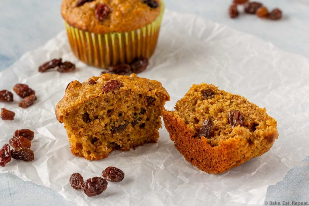 Refrigerator raisin bran muffins