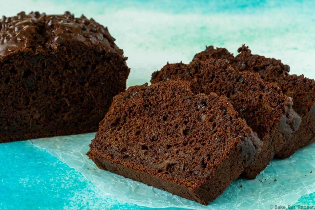 Quick double chocolate zucchini bread