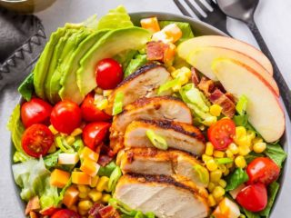 Easy chopped salad with grilled chicken