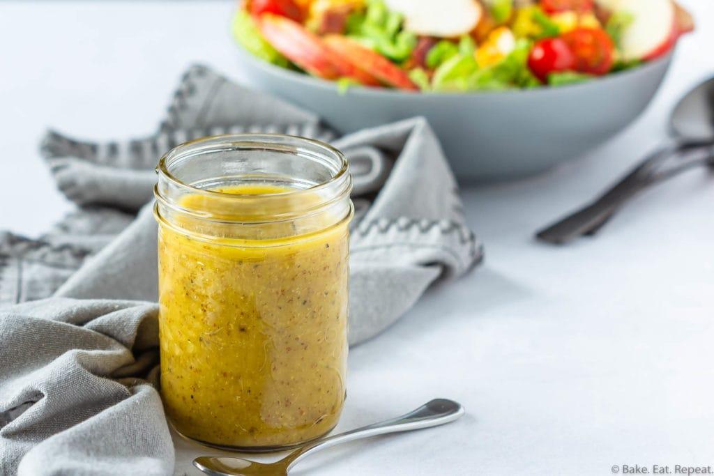 Easy honey mustard dressing