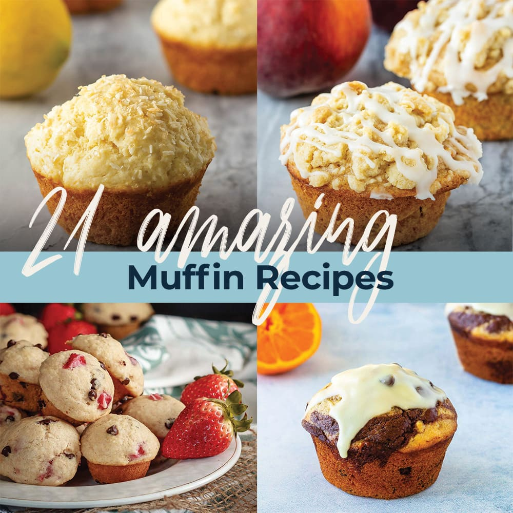 21 amazing muffin recipes picture collage