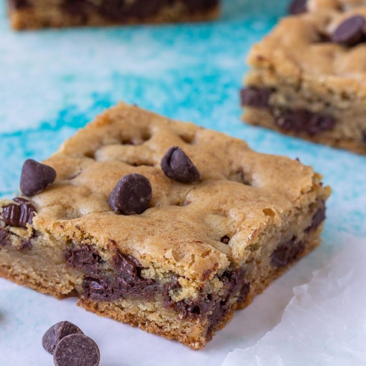 one bowl chocolate chip cookie bars