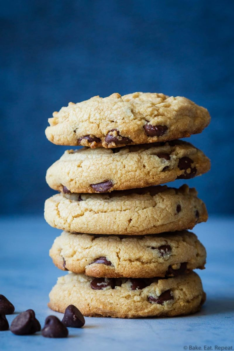 classic chocolate chip peanut butter cookies