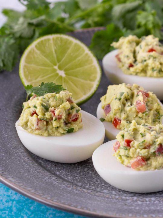 Guacamole Devilled Eggs