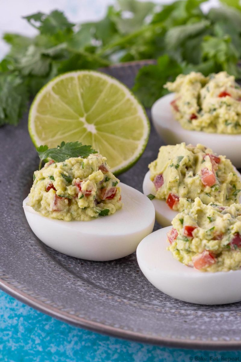 easy guacamole devilled eggs