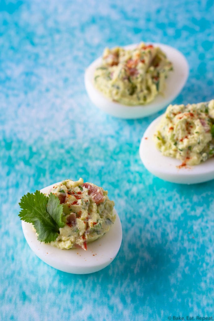 easy guacamole deviled eggs