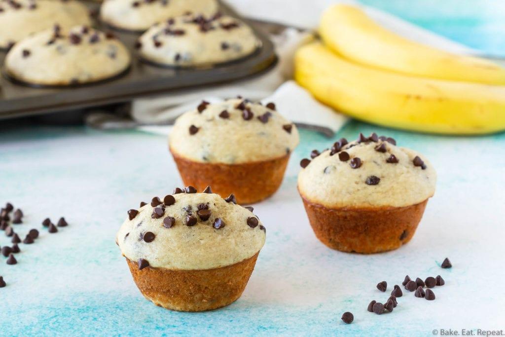 the best chocolate chip banana muffins