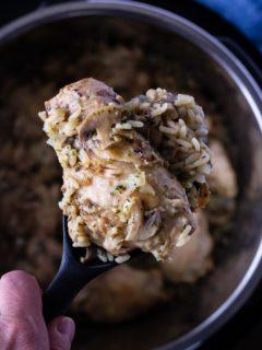 instant pot mushroom chicken and rice