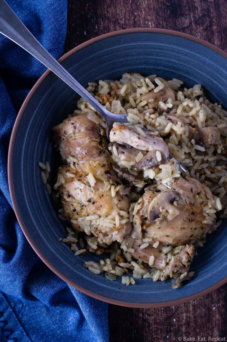 instant pot mushroom chicken and rice