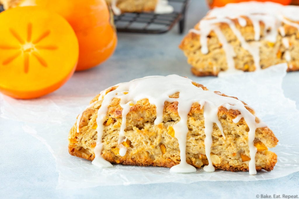 persimmon ginger scones