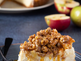 Easy apple crisp cheesecake