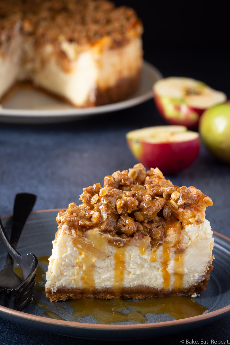 Easy apple crisp cheesecake