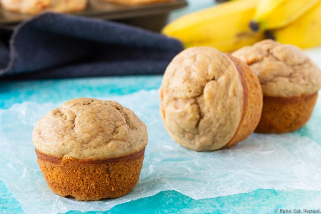 Easy, healthy, banana carrot muffins.
