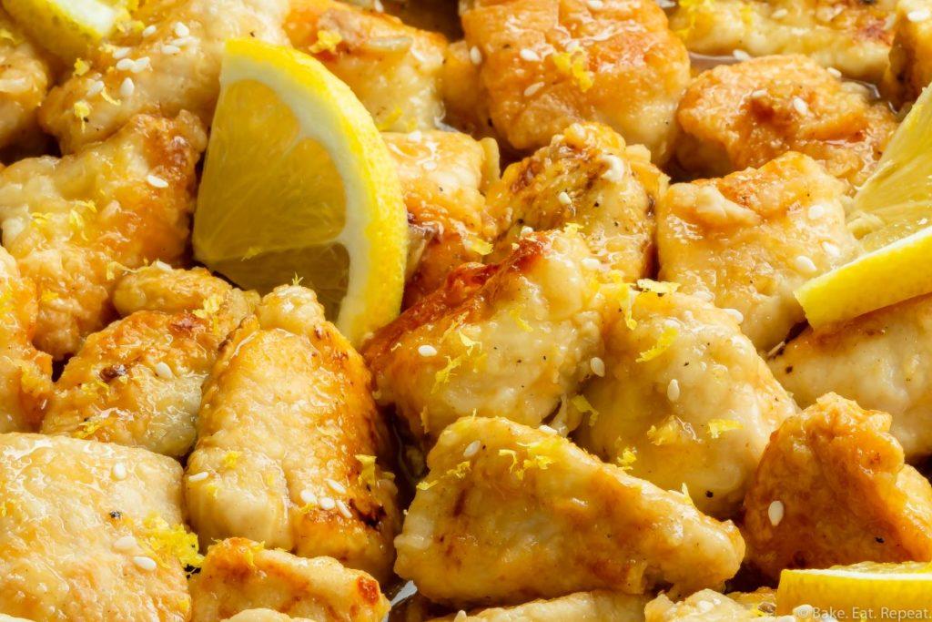 Easy to make homemade Chinese lemon chicken.