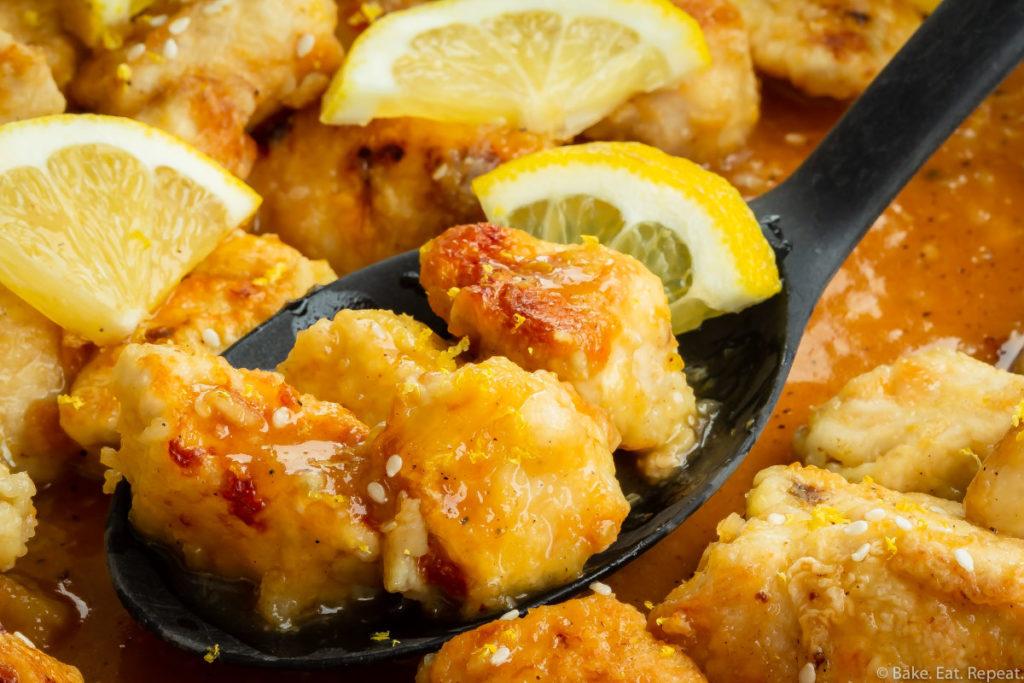 Chinese lemon chicken recipe.