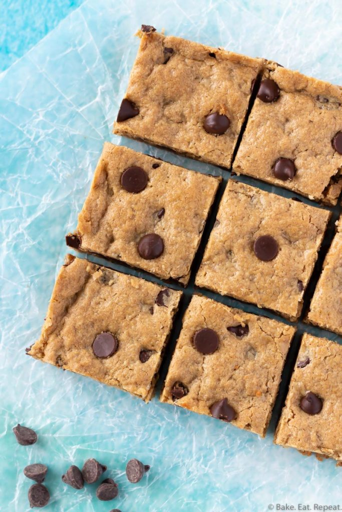 chocolate chip oatmeal peanut butter bars
