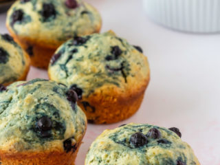 easy, soft and fluffy, blueberry muffins