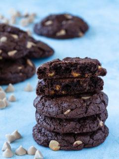 chocolate caramel chip cookies