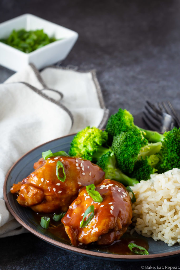 chicken thighs with teriyaki sauce