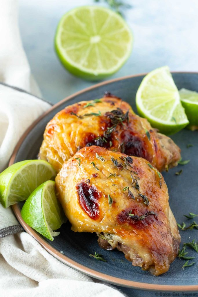 baked honey lime chicken thighs