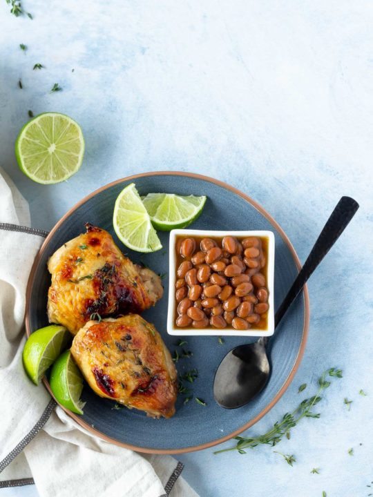 Honey Lime Baked Chicken Thighs