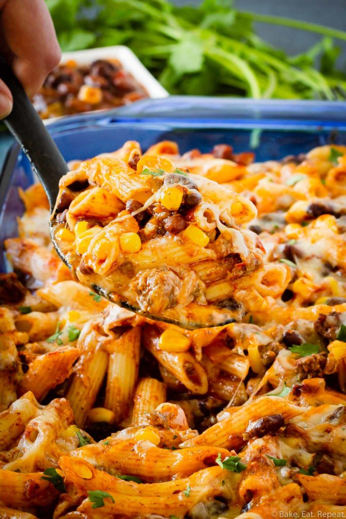Mexican baked penne